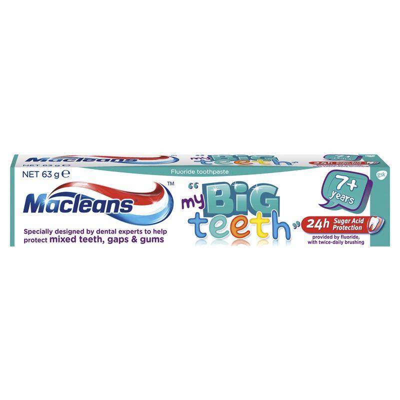 macleans 低氟儿童牙膏 7岁以上 63g (防止蛀牙清洁牙齿)